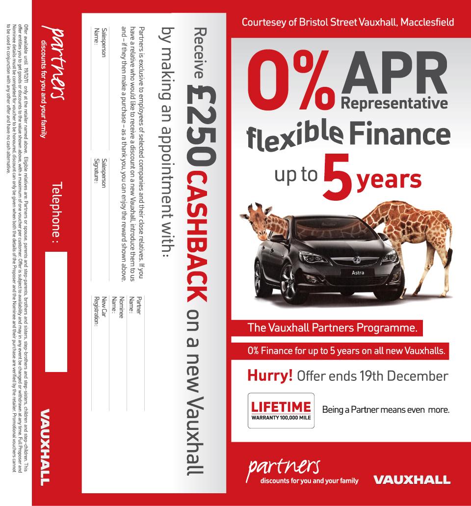 Vauxhall Leaflet Design
